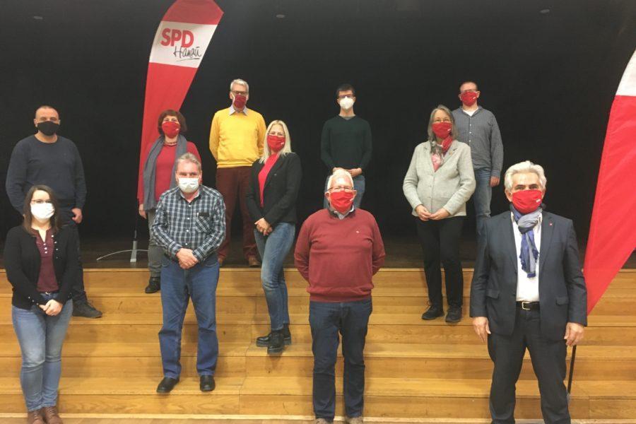 Die Kandidatinnen und Kandidaten der SPD Hanau Mitte für den Ortsbeirat